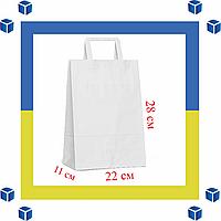 Бумажный пакет с прямыми ручками (220мм/110мм/280мм)