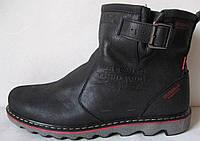 Levis! Зимние черные кожаные в стиле  Levi's Угги! Левис ботинки сапоги женские уги унисекс, фото 1