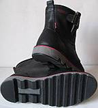 Levis! Зимние черные кожаные в стиле  Levi's Угги! Левис ботинки сапоги женские уги унисекс, фото 4