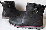 Levis! Зимние черные кожаные в стиле  Levi's Угги! Левис ботинки сапоги женские уги унисекс, фото 6