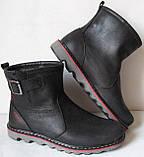 Levis! Зимние черные кожаные в стиле  Levi's Угги! Левис ботинки сапоги женские уги унисекс, фото 2