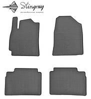 Hyundai elantra ad 2015- комплект из 4-х ковриков черный в салон.