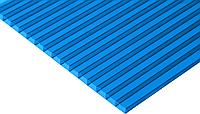 Сотовый поликарбонат с УФ-защитой 4мм 2100х6000мм LIGHT голубой