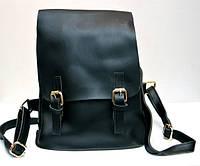 Стильный модный женский рюкзак-ранец чёрный