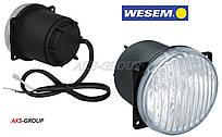 Противотуманная  фара Ø 80мм Wesem HM4.23609 белая круглая с лампой и проводом 50 см