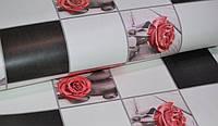 Обои на стену, розы, бежевые, бумажные влагостойкие, 103-02, 0,53*10м