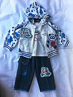Костюм тройка с джинсами, фото 1