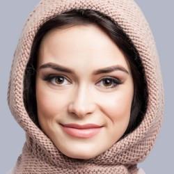 Шапка -капор Фрезия цвет орех