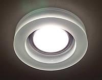 Встраиваемый светильник SV-8011 матовый белый круг