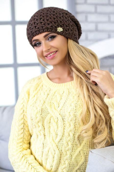 Зимняя женская шапка «Денвер» Светло-коричневый