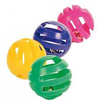 TRIXIE (Трикси) Набор мячиков с колокольчиком (4шт) - игрушка для кошек