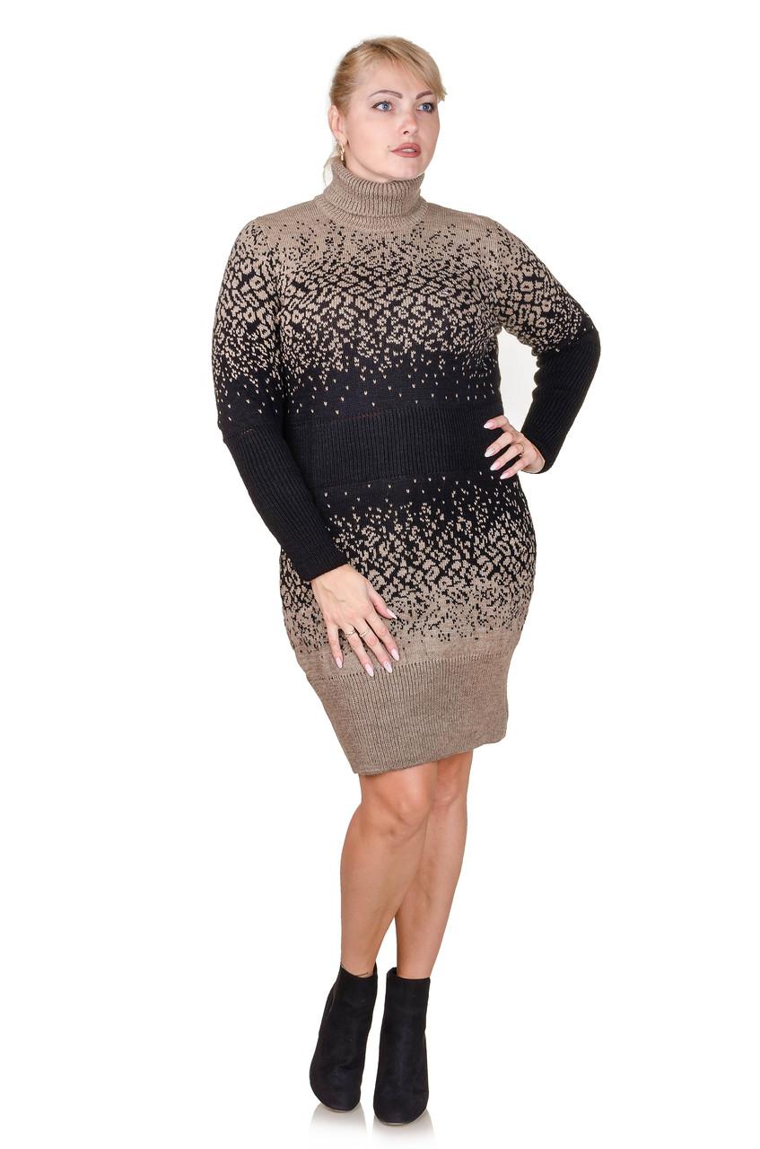 Вязаное платье  Jungli коричневый (46-48)