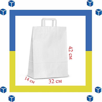 Бумажный пакет с прямыми ручками (320мм/140мм/420мм), фото 2