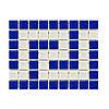 Фриз грецький Aquaviva Cristall B/W синьо-білий