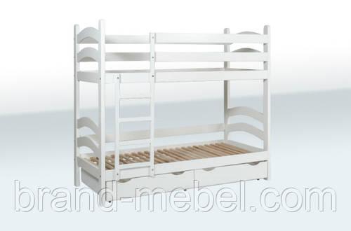 Деревянная подростковая двухьярусная кровать 1А46-7