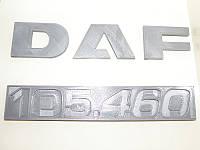 Идентификационная табличка DAF 105.460 и логотип (под покраску)