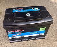 Аккумулятор 74 Ah 680 A 12V Hagen левый плюс