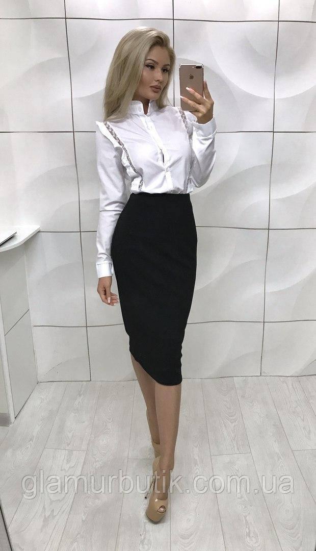 9f7a347ac3c Классическая женская юбка-карандаш миди в расцветках - GlamurButik - женская  одежда оптом и в