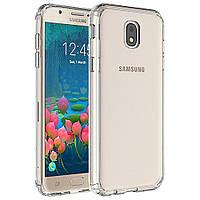 Прозрачный силиконовый чехол Samsung J7 (2017) / J730