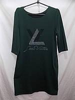 Женское платье LV т.зеленое оптом