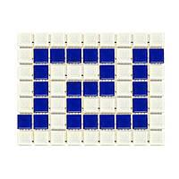 Фриз греческий Aquaviva Cristal B/W бело-синий