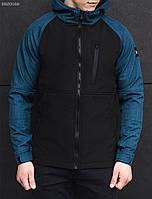 Мужская куртка осень-весна Staff soft shell a4 black denim