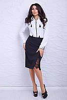 """Женская юбка с кружевом """"Камелия"""" (черный), фото 1"""
