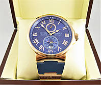 Часы Ulysse Nardin LELOCLE 45mm (механика) Gold/Blue. Класс: ELITE.