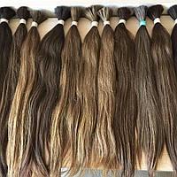 Натуральные славянские Волосы на капсуле 50 см Черный НАРАЩИВАНИЕ ВОЛОС