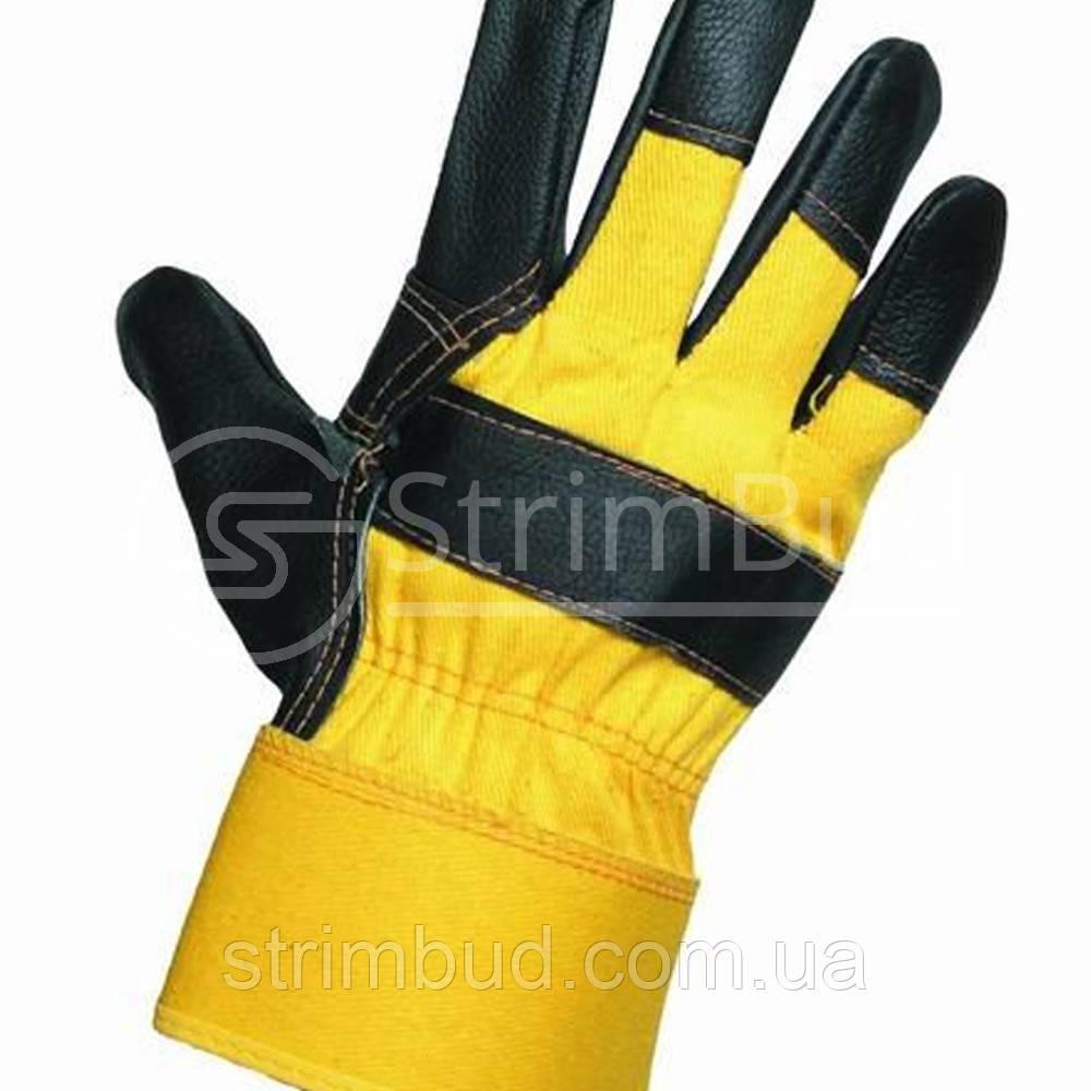 Перчатки кожаные комбинированные «Oriole»