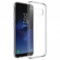 Прозрачный силиконовый чехол Samsung S8