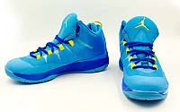 Обувь для баскетбола мужская Jordan OB-6412-1-MIX (41-46) (PU, синий-желтый)
