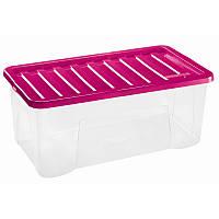 Ящик пластиковый для хранения Heidrun 65 л, 80х40х26 см (1688)