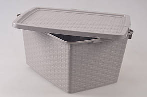 Ящик пластиковый для хранения Heidrun 40 л, 59х39х26 см (4512)