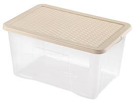 Ящик пластиковый для хранения Heidrun 60 л, 60х40х30 см (4625)