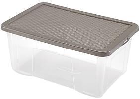 Ящик пластиковый для хранения Heidrun 50 л, 60х40х26 см (4684)