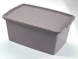 Ящик пластиковый для хранения Heidrun 20 л, 43х32х22 см (4511)