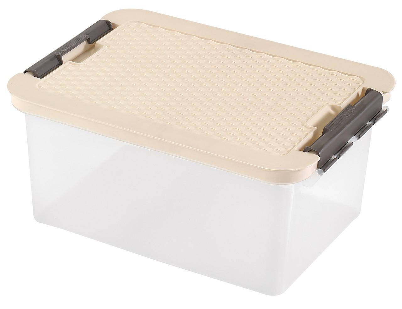Ящик пластиковый для хранения Heidrun 14 л, 40х29х18 см (4604)