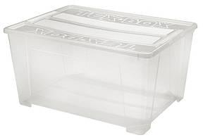 Ящик пластиковый для хранения Heidrun 185 л, 78х59х40 см (7215)