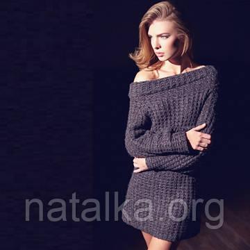 Как удачно сочетать вязаное платье с другой одеждой