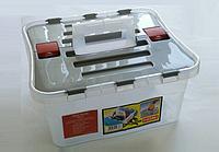Ящик пластиковый с двумя отделениями Heidrun 38х35х25 см (1636)
