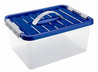 Ящик пластиковый с ручкой и крышкой Heidrun 8 л, 34х23х16 см (1632)