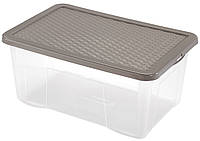 Ящик пластиковый для хранения Heidrun 18 л, 43х33х18 см (4682)
