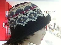 РАСПРОДАЖА Шляпа женская вязаная с орнаментом модно всегда!