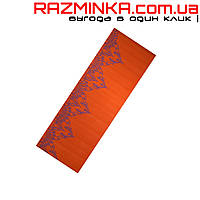 Коврик для занятий йогой с принтом PVC 6мм оранжевый