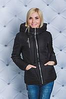 Куртка женская весна-осень на синтепоне черная