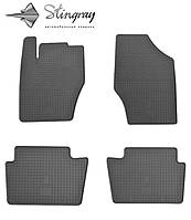 Peugeot 2008 2013- Комплект из 4-х ковриков Черный в салон