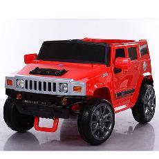 Детский электромобиль Hummer M 3581 EBR красный, колеса EVA, амортизаторы, пульт Bluetooth