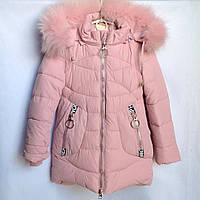 Пальто для девочки из плащевки зимнее