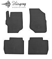Peugeot 301 2013- Комплект из 4-х ковриков Черный в салон